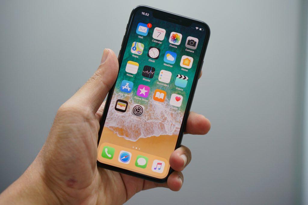 iPhoneのディスプレイ画面