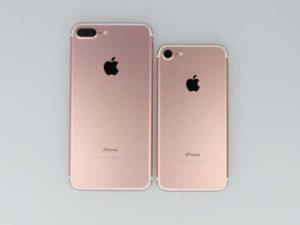 iPhone7とiPhone7Plusが並んでいる画像