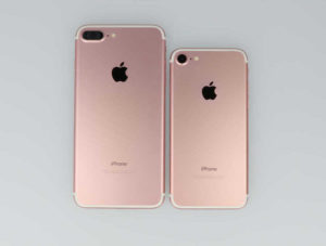 iPhone7とiPhone7が並んだ背面画像