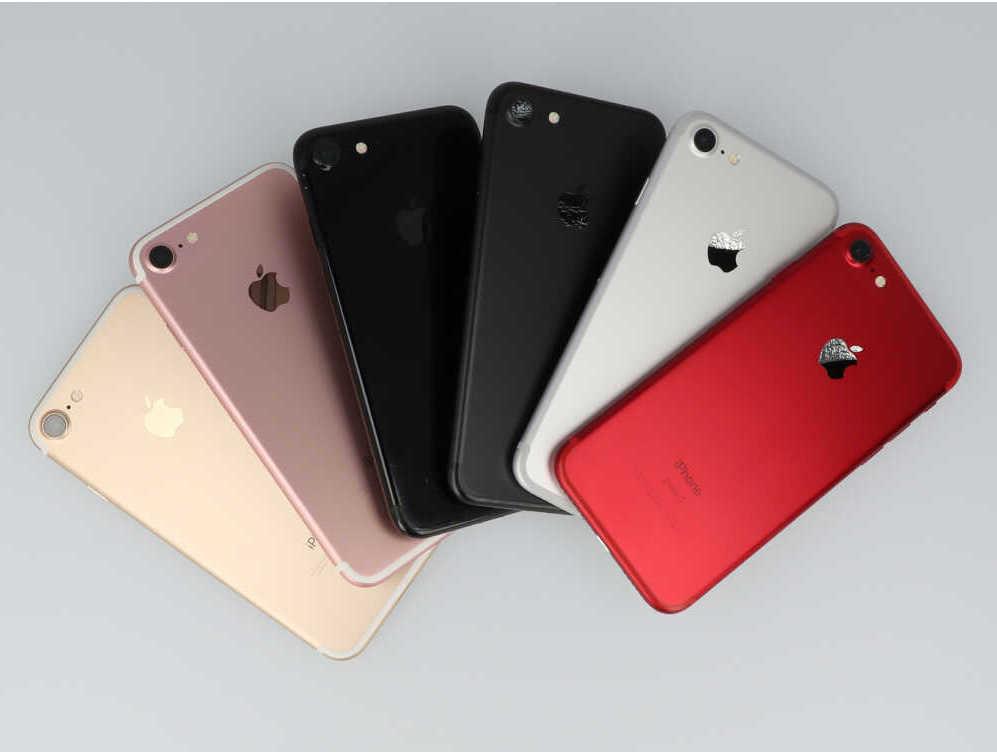 全色のiPhone7を並べた画像