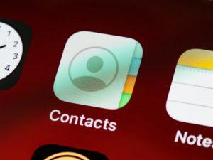 iPhoneの連絡帳アプリ