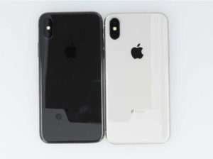 iPhoneXの背面を並べた画像