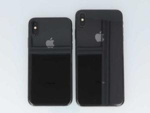 iPhone XSとiPhone XS Maxが並んでいる画像