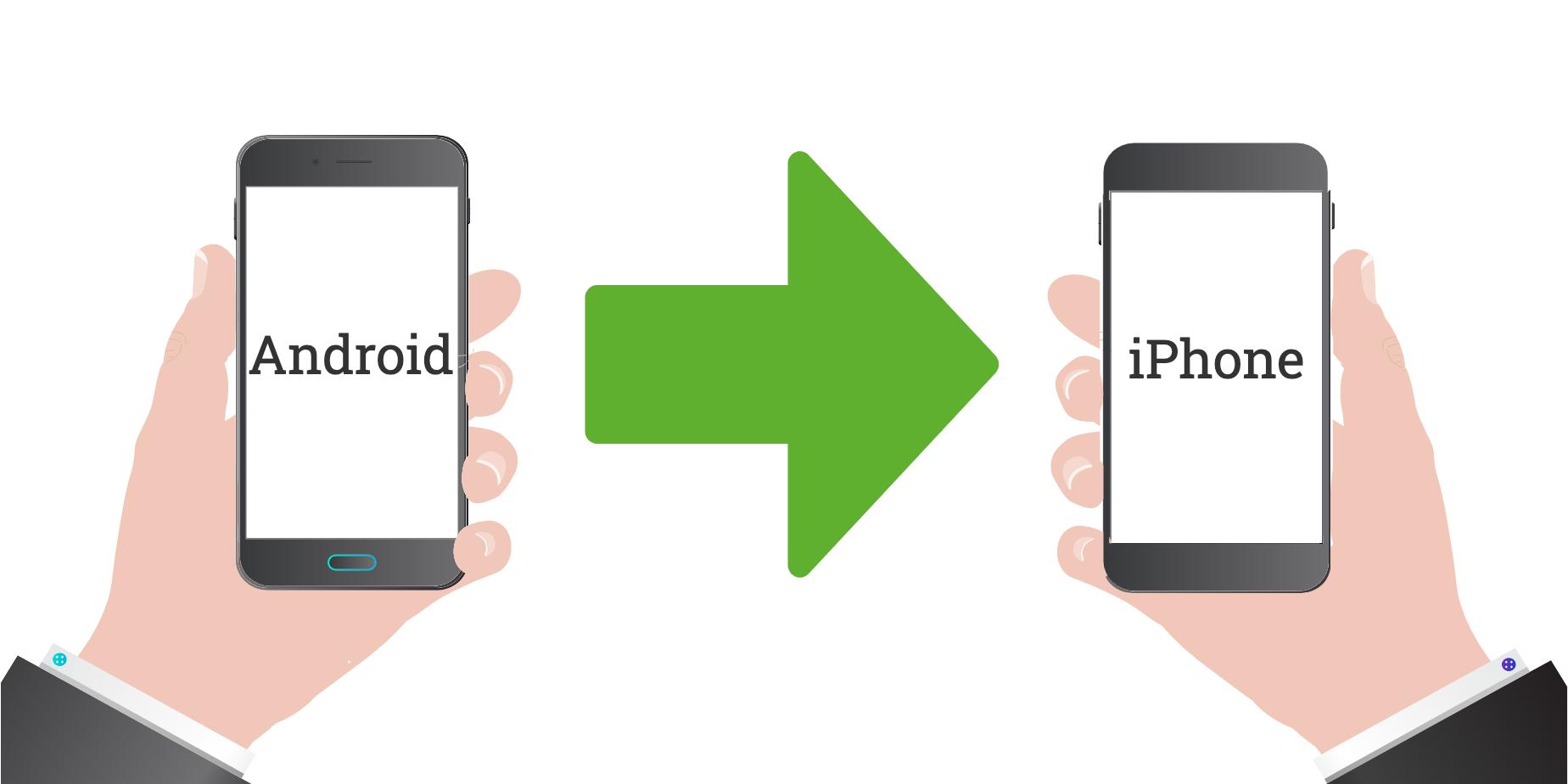 AndroidからiPhoneへのデータ移行
