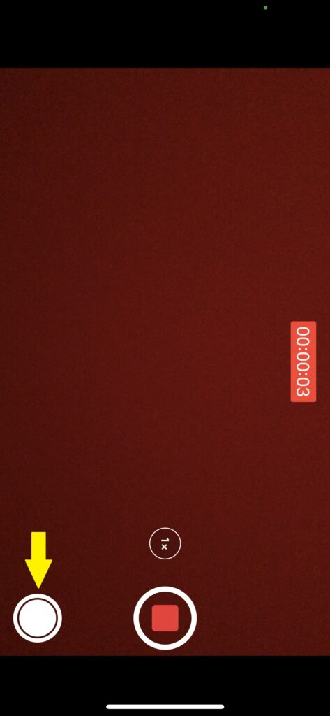 iPhoneの動画撮影画面